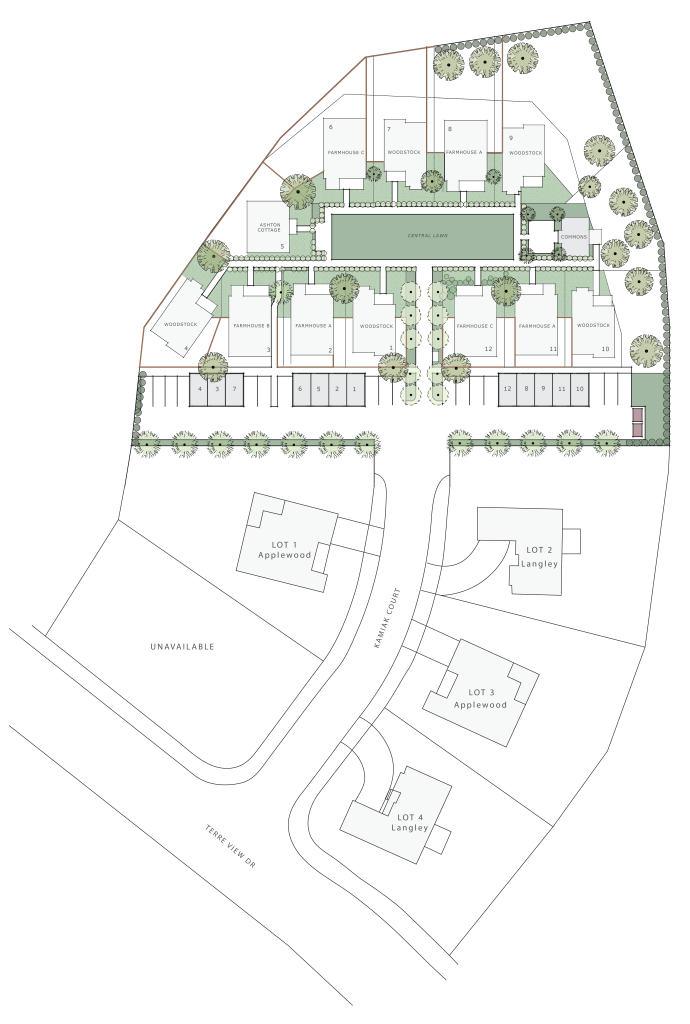 Kamiak Cottages and Homes Siteplan
